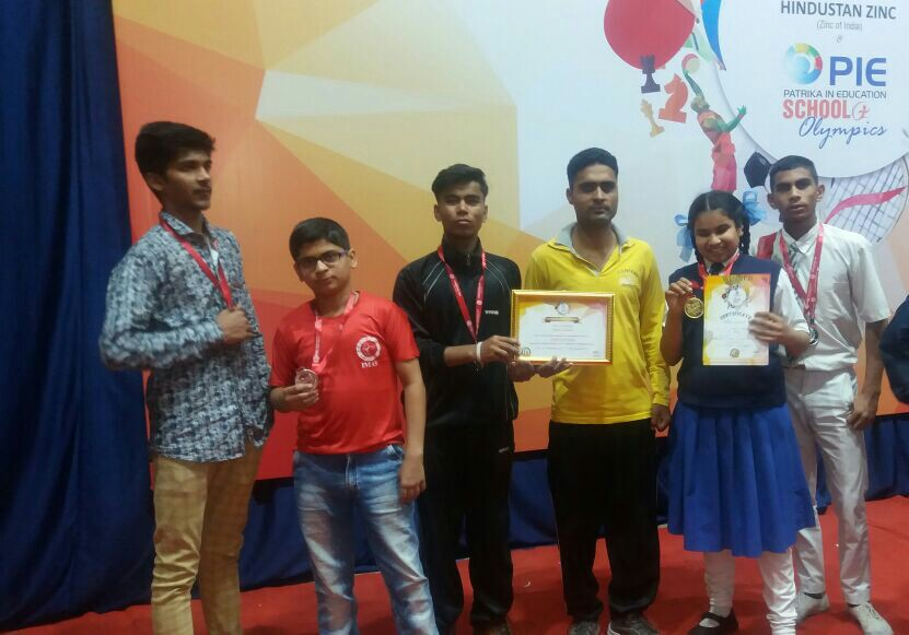 Medalist of PIE Olympics at Udaipur