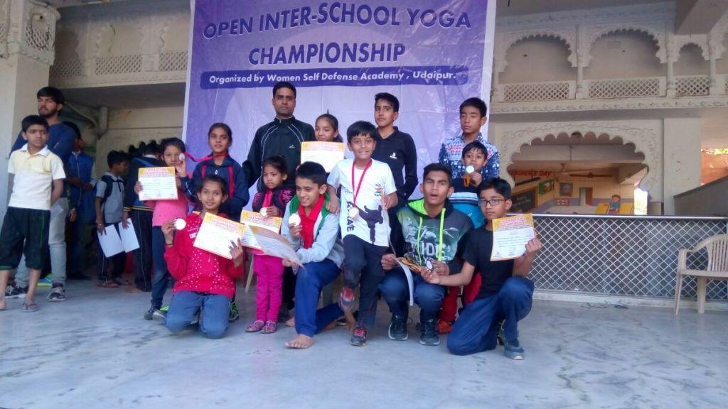 Medalist of interschool yoga championship