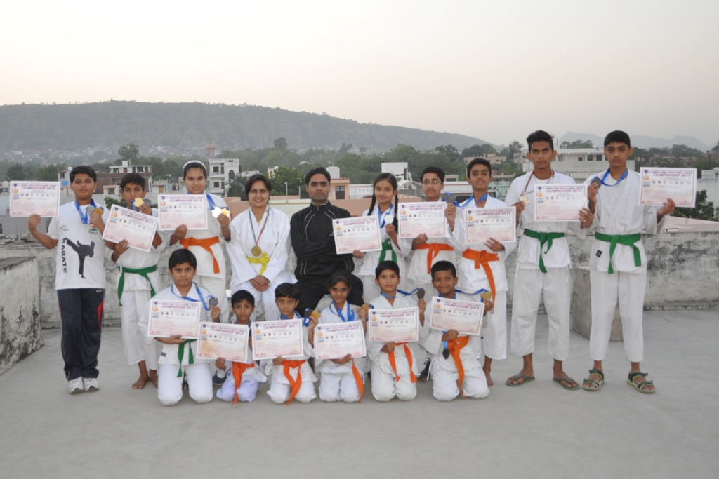 Medalist of north zone Karate Championship at Chittorgarh